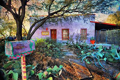La Casa Lila Art Print by Barbara Manis