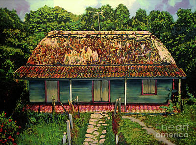 Cobblestone Painting - La Casita by Maria Arango