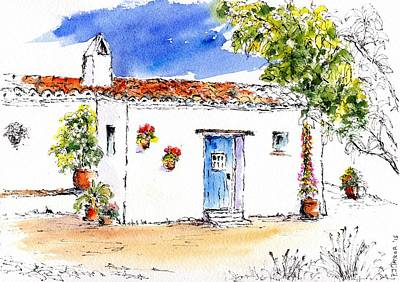 Charming Cottage Mixed Media - La Casita by Pam Taylor