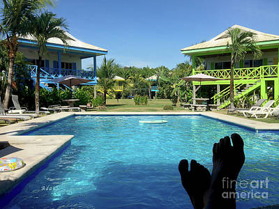 Photograph - la Casita Playa Hermosa Puntarenas Costa Rica - Happy Feet by Felipe Adan Lerma