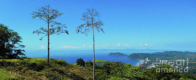 Photograph - la Casita Playa Hermosa Puntarenas Costa Rica - Lost on Parrot Hill Panorama by Felipe Adan Lerma