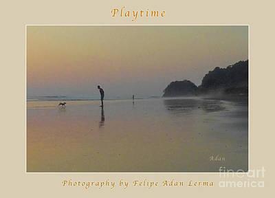 Photograph - la Casita Playa Hermosa Puntarenas Costa Rica - Playtime Crop Poster by Felipe Adan Lerma