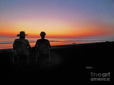 Photograph - la Casita Playa Hermosa Puntarenas Costa Rica - Sunset Happy Couple by Felipe Adan Lerma