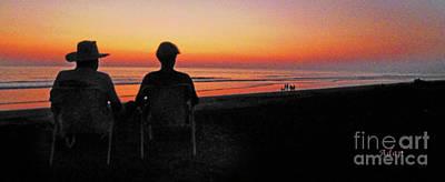 Photograph - la Casita Playa Hermosa Puntarenas Costa Rica - Sunset Happy Couple Panorama by Felipe Adan Lerma
