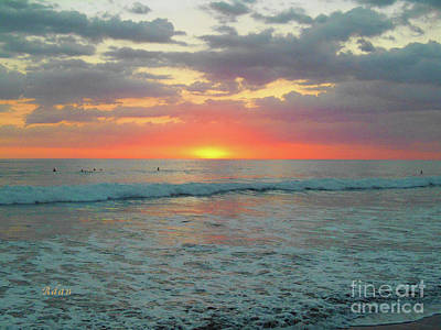 Photograph - la Casita Playa Hermosa Puntarenas Costa Rica - Sunset Teal by Felipe Adan Lerma
