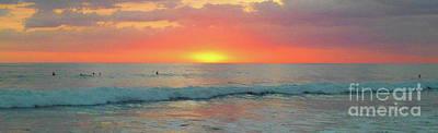 Photograph - la Casita Playa Hermosa Puntarenas Costa Rica - Sunset Teal Panorama by Felipe Adan Lerma