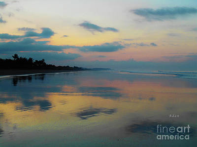 Photograph - la Casita Playa Hermosa Puntarenas - Sunrise One - Painted Beach Costa Rica by Felipe Adan Lerma