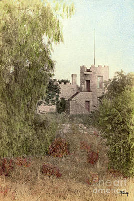 Photograph - La Castle De Crescenta Circa 1908 by California Views Mr Pat Hathaway Archives