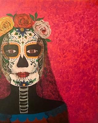 Painting - La Catrina by Thelma Delgado