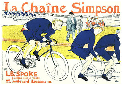 Mixed Media - La Chaine Simpson - Bicycle - Vintage French Advertising Poster by Studio Grafiikka