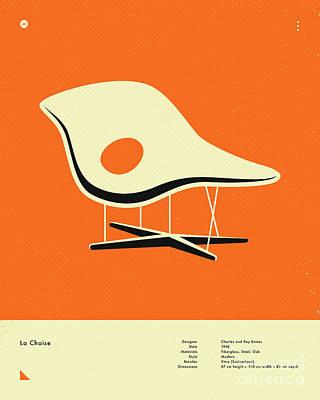 Infographic Digital Art - La Chaise 1948 by Jazzberry Blue