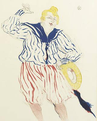 Singing Drawing - La Chanson Du Matelot, Au Star, Le Havre by Henri de Toulouse-Lautrec