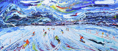 Painting - La Chaux 2 Verbier by Pete Caswell
