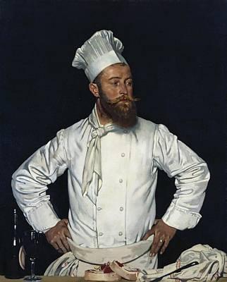 La Chef De L'hotel Chatham Paris Art Print