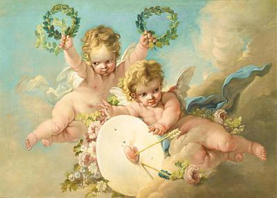 Painting - La Cible D'amour by Francois Boucher