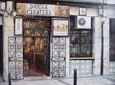 La Cigalena Old Restaurant Art Print by Tomas Castano