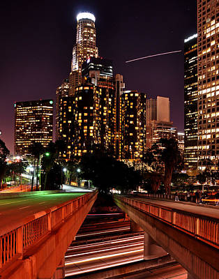 Photograph - La City Lights by Matt MacMillan