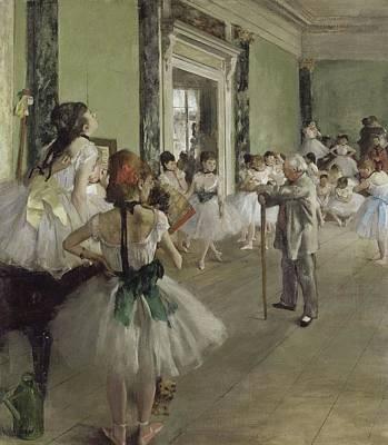 Classe Painting - La Classe De Danse by Degas