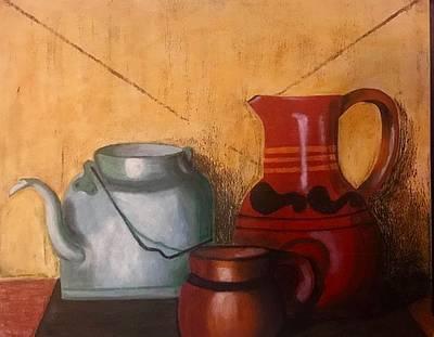 Painting - La Cocina De Mama by Thelma Delgado