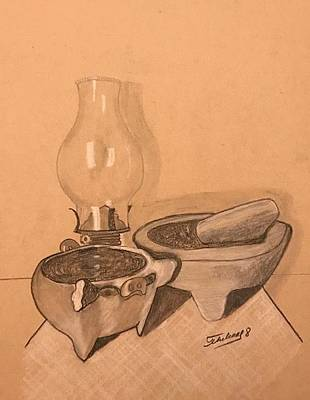 Drawing - La Cocina  by Thelma Delgado