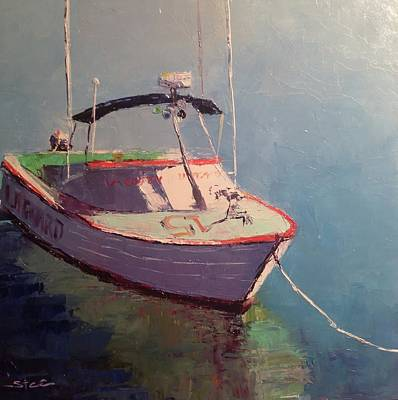 Painting - La County Lifeguard Boat by Shannon Celia