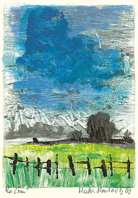 Art Print featuring the painting La Crau by Martin Stankewitz