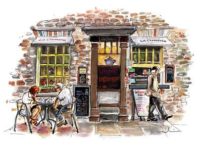 Painting - La Cremeria In York by Miki De Goodaboom