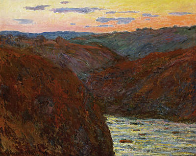Fading Painting - La Creuse, Sunset by Claude Monet