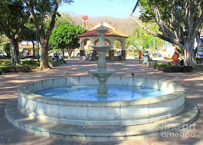 Photograph - La Crucita Plaza by Randall Weidner
