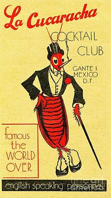 Painting - La Cucaracha  Poster by Roberto Prusso