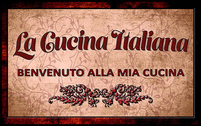 La Cucina Italiana Art Print
