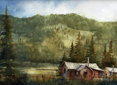 Painting - La Cueva Cow Camp by Tim Oliver