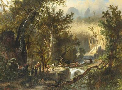 Painting - La Cueva Del Guaracho, Venezuela by Ferdinand Bellermann