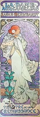 Painting - La Dame Aux Camelias by Alphonse Mucha