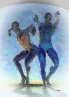 Ballet Dancers Painting - La Danza Obscura by Quim Abella