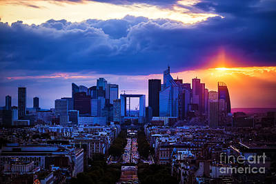 Paris Skyline Royalty-Free and Rights-Managed Images - La Defense by Katya Horner