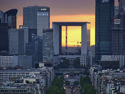 Photograph - La Defense - La Grande Arche - Paris by Nikolyn McDonald