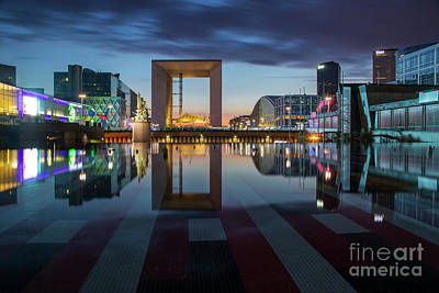 Photograph - La Defense Reflections by Brian Jannsen