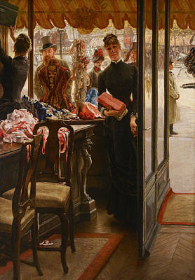 La Demoiselle De Magasin Art Print by James Tissot
