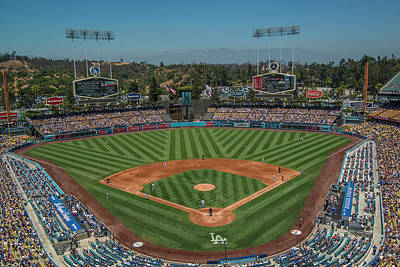 Photograph - La Dodgers Los Angeles California Baseball by David Haskett II