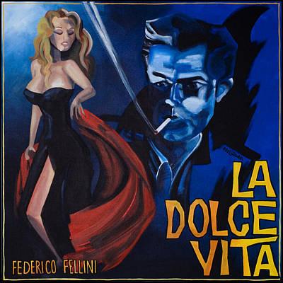 1950 Movies Painting - La Dolce Vita by Kelly Jade King