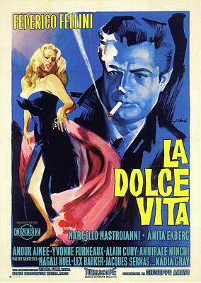 Fellini Digital Art - La Dolce Vita  by Movieworld Posters