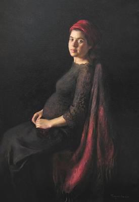 Painting - La Donna Incinta by Thimgan Hayden