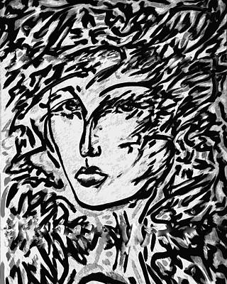 Mexicano Digital Art - La Dreamer Variation 1 by Jimmy Longoria
