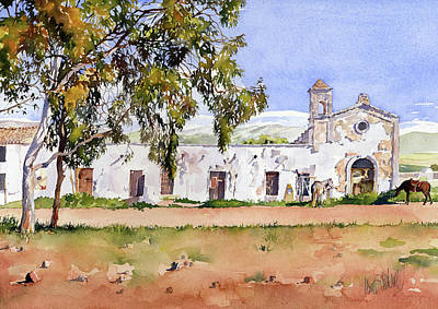 Painting - La Ermita Del Fraile by Margaret Merry