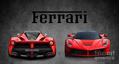 La Ferrari. Art Print