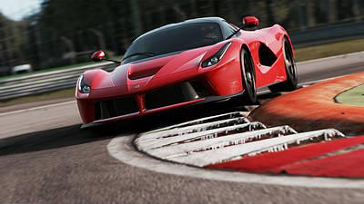 Photograph - La Ferrari, Monza - 02 by Andrea Mazzocchetti
