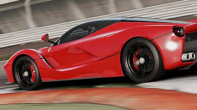 Photograph - La Ferrari, Monza - 04 by Andrea Mazzocchetti