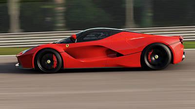 Photograph - La Ferrari, Monza - 10 by Andrea Mazzocchetti