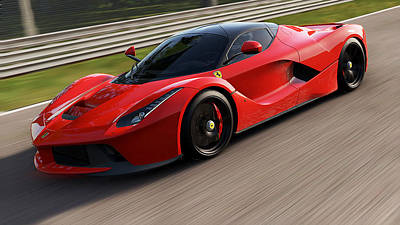 Photograph - La Ferrari, Monza - 11 by Andrea Mazzocchetti